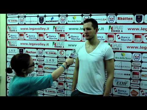 Bartosz Kurek after the match vs Molfetta (Polish language)