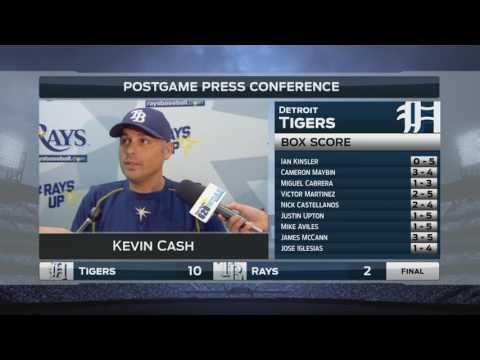 Kevin Cash -- Tampa Bay Rays vs. Detroit Tigers 07/01/2016