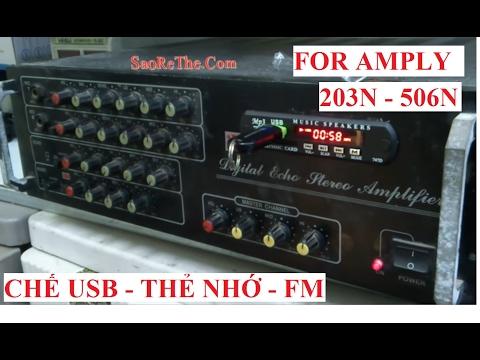 Chế USB BLUETOOTH cho Amly 8-12 sò ( hướng dẫn nâng cấp chi tiết ) ver 2