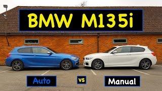 BMW M135i AUTO vs MANUAL Test/Review 2016 LCI