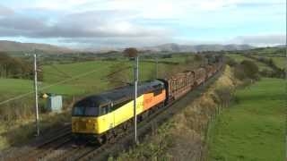 Colas Rail 56094 on 6J37 Logs to Chirk passes Docker