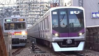 東京メトロ半蔵門線08系08 102F溝の口駅到着