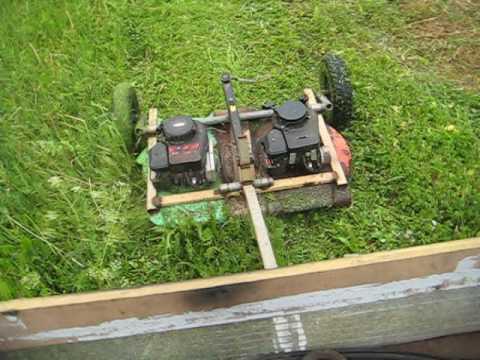 Homemade Tow Mower Youtube