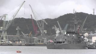 M120916B 海上自衛隊 佐世保基地 護衛艦台風避泊