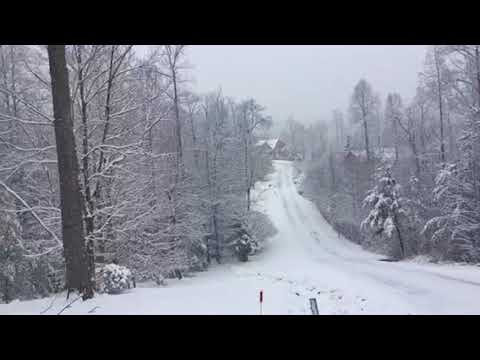 First snow fall in blairsville Georgia