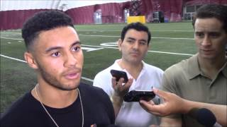 DevilsDigest TV: D.J. Foster addresses the media after Pro Day