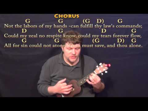 Rock of Ages - Ukulele Cover Lesson in G with Chords/Lyrics