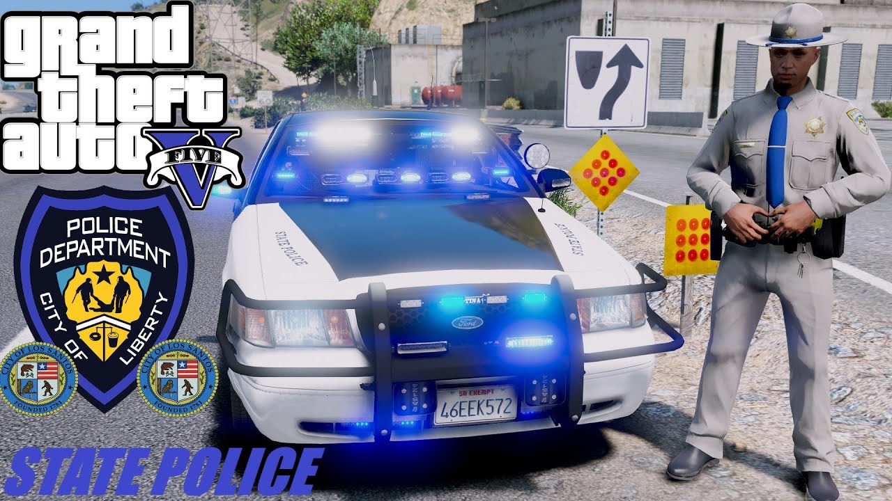 NEW Highway Patrol Police chases and Guns Blazing Near Vespucci Beach Officer down Gta 5 Lspdfr