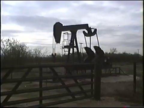 1930's - 40's Oil Field Pump Jacks near Luling, Texas