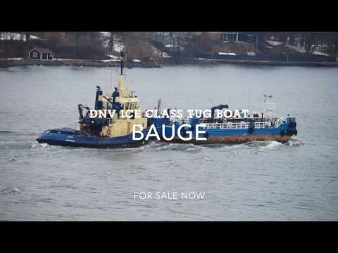 Shipsforsale Sweden DnV Ice class Tug Bauge for sale. B&W Alpha start up engine. Sold.