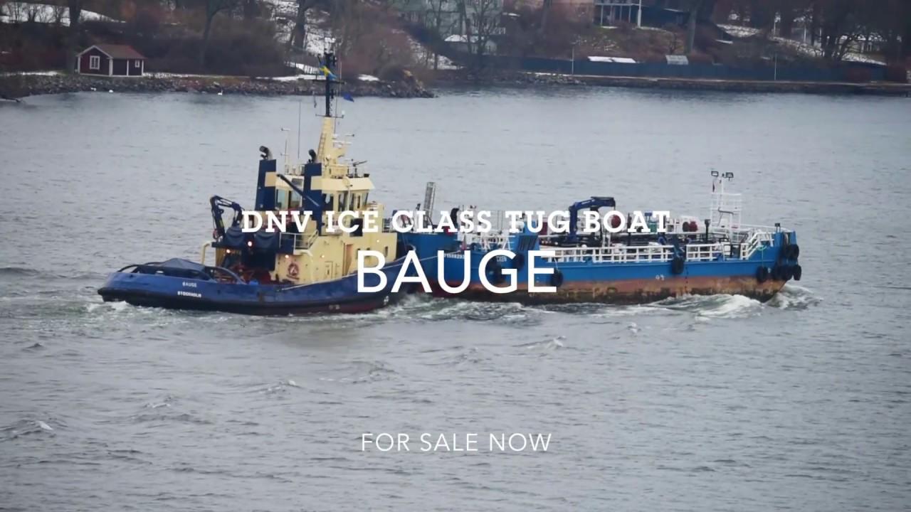 Shipsforsale Sweden DnV Ice class Tug Bauge for sale  B&W Alpha start up  engine  Sold