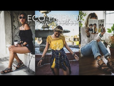 Spring Lookbook // Eco Friendly + Thrifted Outfits