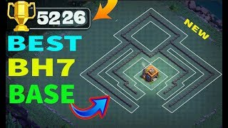 Best BH 7 (Builder Hall 7) Base 2018 Design Anti 1 Star | Easy Trophy Pusher Base| Clash Of Clans