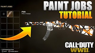 Paint Jobs Tutorial for COD: WW2 - How To Upload YOUR PAINTJOBS On Call of Duty: World War 2