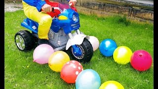 Ayşe's Magical Car Motorcycle And Cute Clown And Ayşe's Juicy Water Balloons, Funny video