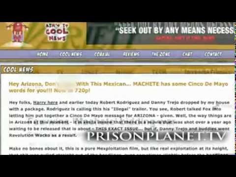 Alex Jones speaks on Director Robert Rodriguez' new film 'Machete'