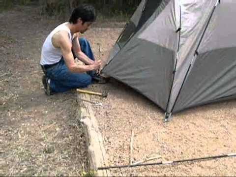 Building a camping tent
