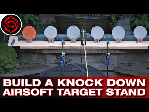 Airsoft/Paintball Knock Down Popper Stand (DIY) - YouTube
