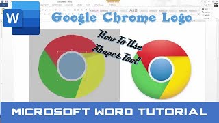 how to Draw Google Chrome Logo in Microsoft Word 2016  The Teacher