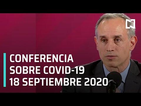 Conferencia Covid-19 en México - 18 septiembre 2020