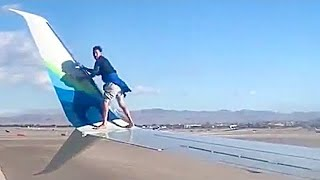 Man Falls From Plane Wing