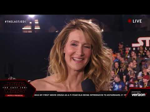 Download Youtube: Laura Dern Vice Admiral Amilyn Holdo interview - Star Wars The Last Jedi Red Carpet World Premiere