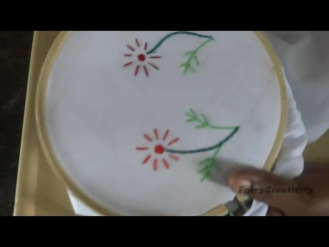 Easy Chain Stitch Flower s Process