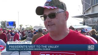 Crowds gathered ahead of President Trump's Phoenix rally