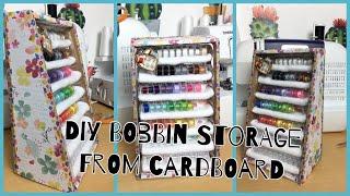 DIY Bobbin storage from cardboard