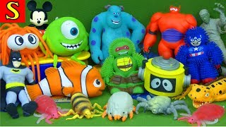 LOTS of Squishy Blind Bags Life Like Surprise Creepers Bug Toys Disney Stretchy Spiderman NO MUSIC