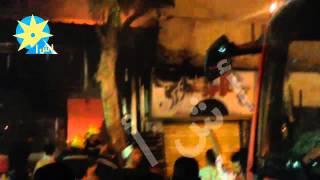 بالفيديو.. حريق هائل بمحل حلواني شهير في شارع الهرم