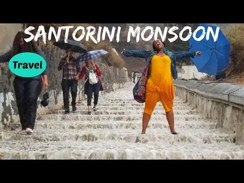 We Survived Walking Down a River of Donkey Sh**! | Santorini Greece Vlog