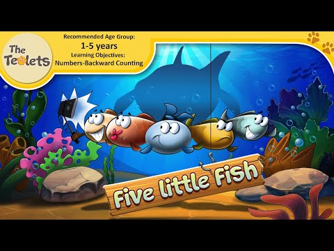 5 Little Fish Swimming In The Sea I Shark Song I Under The Sea I Shark 123 I Numbers I The Teolets