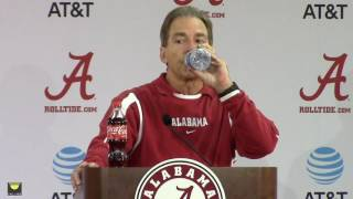 Nick Saban previews Chattanooga game, talks about Jalen Hurts