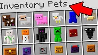 Minecraft   Mascotas del INVENTARIO jamás antes vistas...
