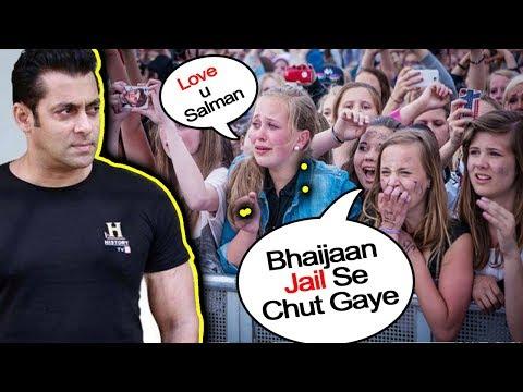 Salman Khan's EMOTIONAL FANS Reaction on Bail   Blackbuck Poaching Case