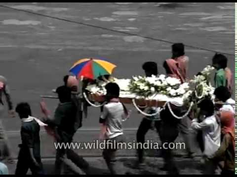 Calcutta city archival footage from 1980's