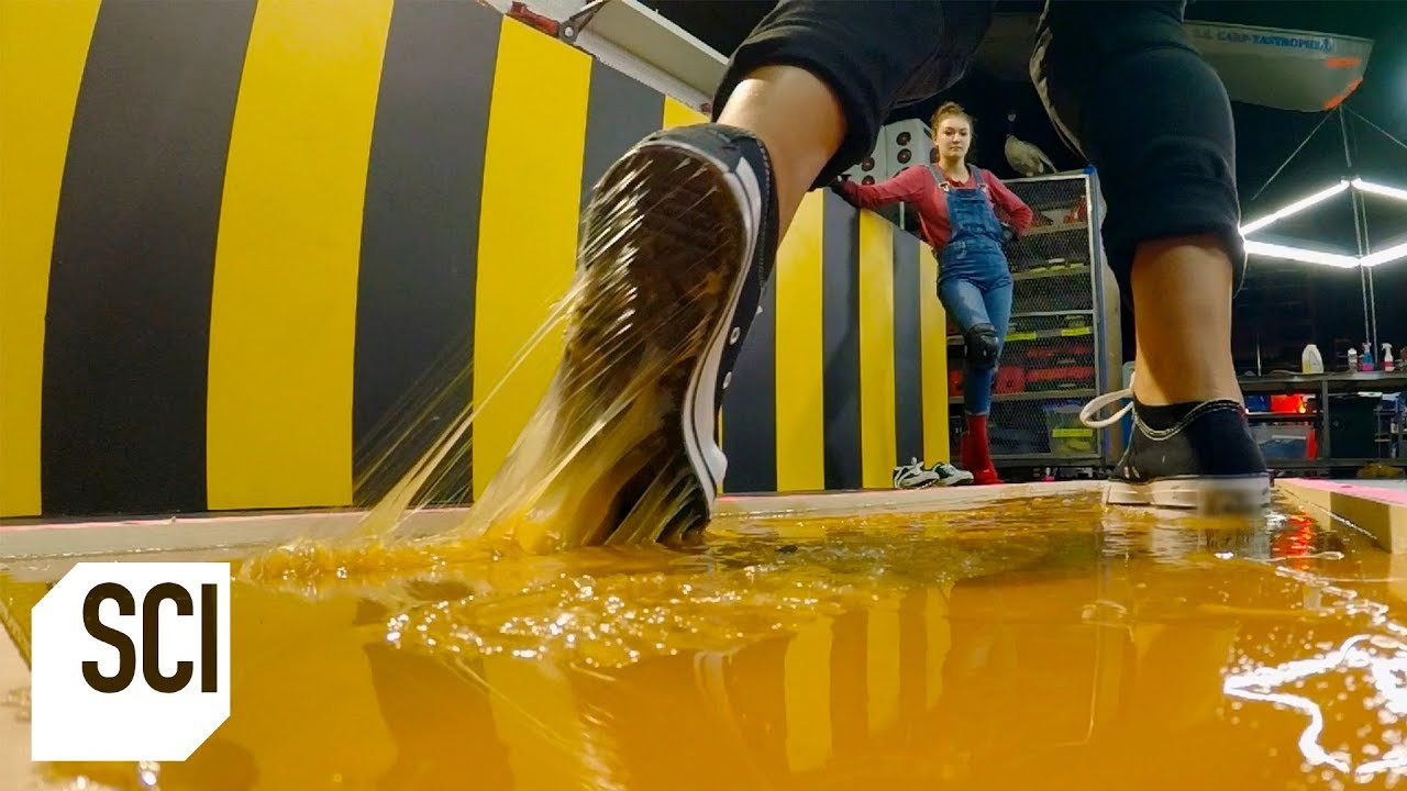 Download Can You Walk on Rodent Glue Without Getting Stuck? | MythBusters Jr.