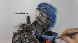Spectre Specialist - Speed Drawing - How To Draw - Call of Duty: Black Ops 3