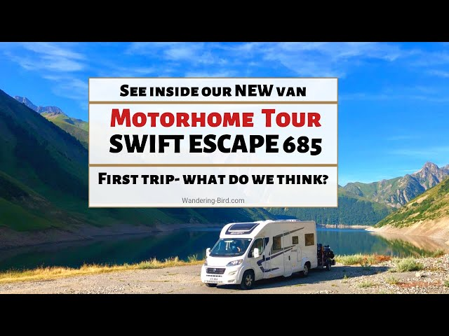 Swift Escape 685 Motorhome Tour and Review- See inside our new Motorhome! Wandering Bird Adventures