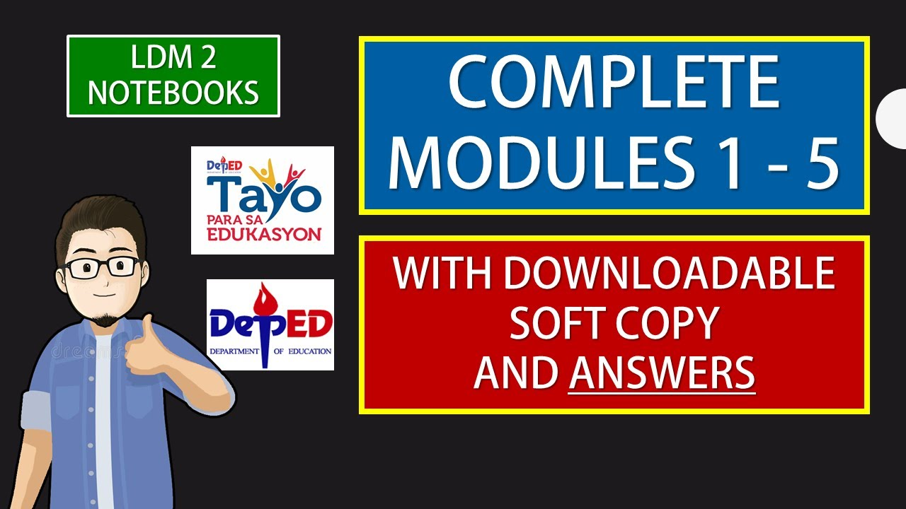 Download COMPLETE 1 - 5 LDM 2 MODULES WITH ANSWERS  ( WITH DOWNLOADABLE SOFT COPY)