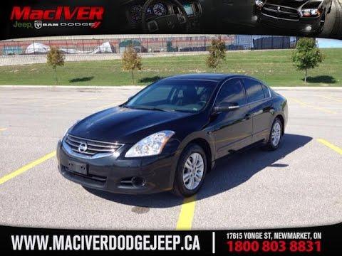2012 Black Nissan Altima 25 S Newmarket Ontario Maciver Dodge