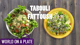 How to make Middle east special salad | Lebanese salad | World on a Plate | Manorama Online Recipe