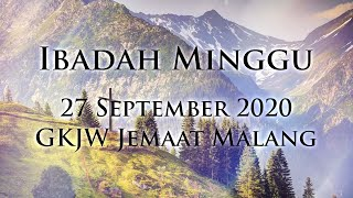 Ibadah Minggu 27 September 2020 GKJW Jemaat Malang
