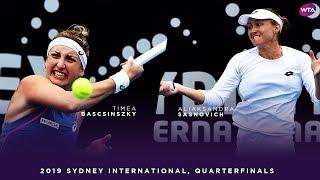 Timea Bacsinszky vs. Aliaksandra Sasnovich | 2019 Sydney International Quarterfinals | WTA High
