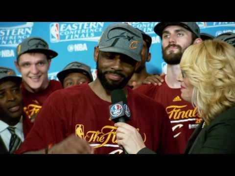 Inside Stuff: Kyrie Irving With Kristen Ledlow   June 11, 2016   2016 NBA Finals