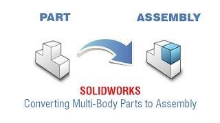 Converting Multi-Body Parts to Assembly Design / Part dosyasını montaj dosyasına dönüştürmek