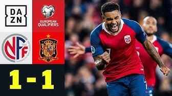 Last-Minute-Norweger vermiesen Spaniern die Party: Norwegen - Spanien 1:1   EM-Quali   DAZN