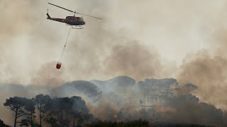 Raging wildfire forces evacuation of Cape Town university