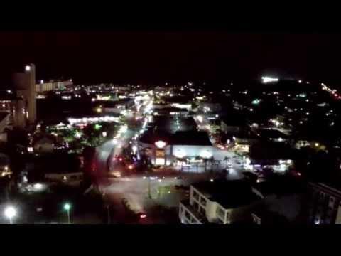 """"""" Paseo De Marianas """" Garapan , SAIPAN  ( Night Aerial View ) By: ROGER"""